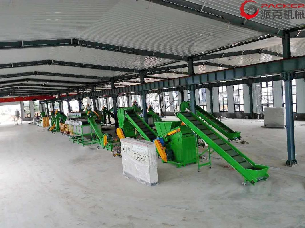 Industrial Plastic Film Washing Line Fully Automated 80KW 3%-5% Final Moisture