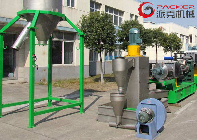 High Capacity Plastic Granulating Line 180mm Screw 500kg/H Capacity Optional Color